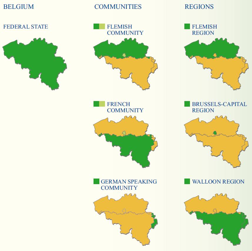 Figure 1: The Regions and Communities of Belgium